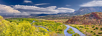 Chama River Overlook Poster by Photo by Dean Fikar