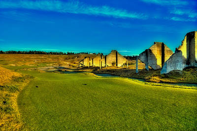 Chambers Bay #18 - The Quarry Poster by David Patterson