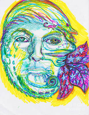 Chameleon Trump 2 Poster by Susan Brown    Slizys art signature name