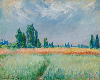 Poster featuring the painting Champ De Ble by Claude Monet
