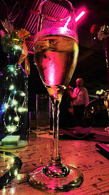 Poster featuring the photograph Champagne And Jazz by Lori Seaman