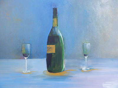Champagne For Two Poster by Lisa Kaiser