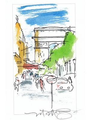 Champs Elysee Paris Poster