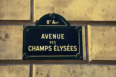 Champs Elysees Poster by Andrew Soundarajan