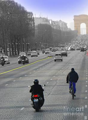 Champs Elysees II Poster by Al Bourassa