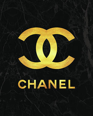 Chanel - Black And Gold Poster