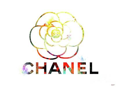 Chanel Camellia Flower Poster