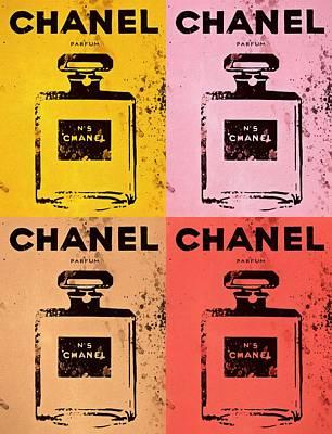 Chanel Five Pop Art Poster