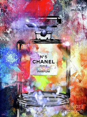 Chanel No. 5 Painted Poster by Daniel Janda