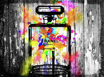 Chanel No. 5  Wooden Poster by Daniel Janda