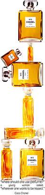 Chanel Perfume Bottles Poster