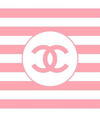 Chanel Pink Stripes Poster by Alta Vita