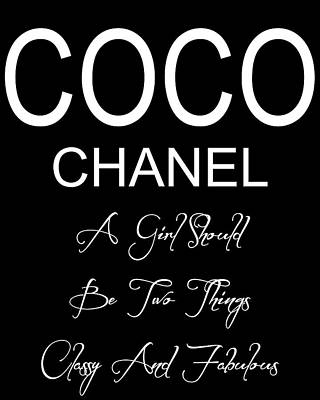 Chanel Quote 2 Poster