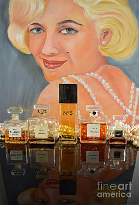 Chanels With Marilyn Monroe Poster by To-Tam Gerwe