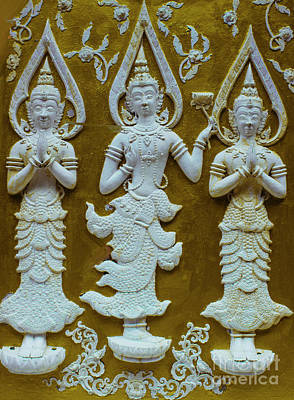 Chang Mai Temple Carving Poster