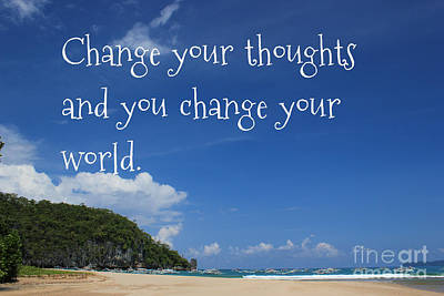 Poster featuring the mixed media Change Your Thoughts by Wilko Van de Kamp