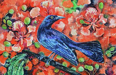 Chango On The Flamboyant Tree Poster by Zaira Dzhaubaeva