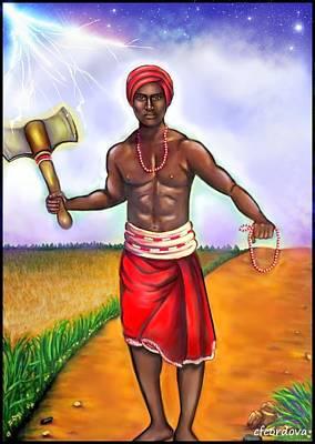 Chango -the Santeria Warrior Poster