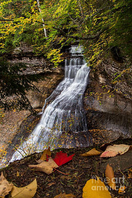 Chapel Falls On An Autumn Day  2225  Poster