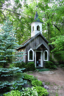 Poster featuring the photograph Chapel In The Woods by Joel Witmeyer