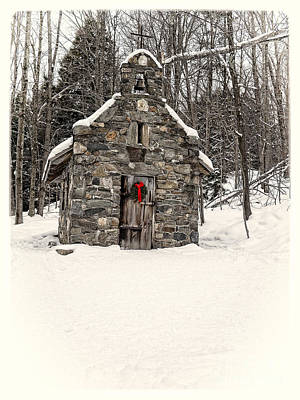 Chapel In The Woods Stowe Vermont Poster