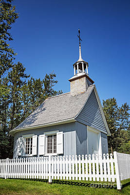 Chapel With Picket Fence Poster by Jane Rix