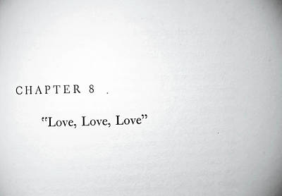 Chapter 8 Love Love Love Poster by Toni Hopper