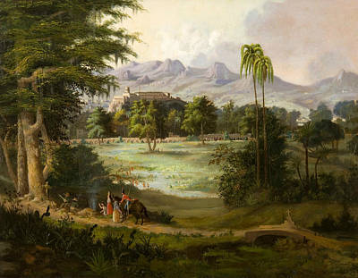 Chapultpec Castle Poster by Robert Seldon Duncanson