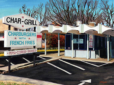 Char Grill Hillsborough St Poster