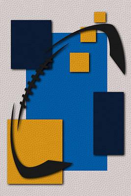 Chargers Football Art Poster by Joe Hamilton