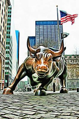 Charging Bull 3 Version 2 Poster