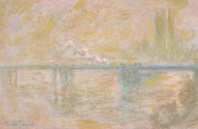 Charing Cross Bridge In London Poster by Claude Monet