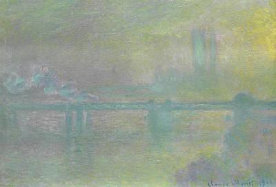 Charing Cross Bridge, London Poster by Claude Monet
