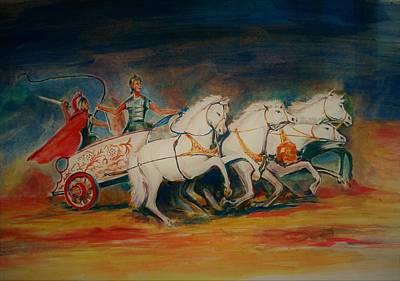 Chariot Poster by Khalid Saeed