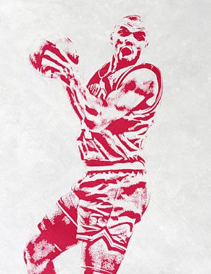 Charles Barkley Philadelphia Sixers Pixel Art Poster by Joe Hamilton