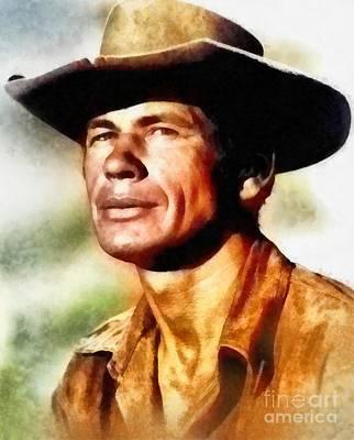 Charles Bronson, Vintage Hollywood Actor Poster