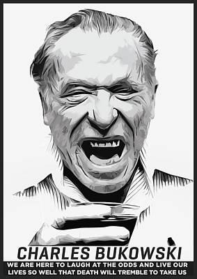 Charles Bukowski Poster by Semih Yurdabak