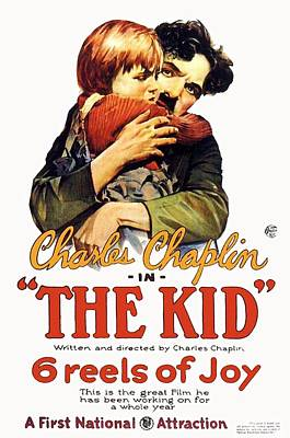 Charles Chaplin In The Kid 1921 Poster