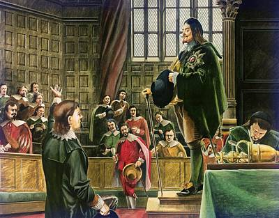 Charles I In The House Of Commons Poster by English School