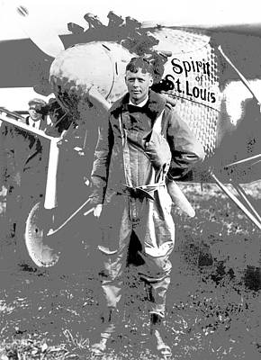 Charles Lindberg Spirit Of St. Louis Roosevelt Field May 20 1927 Day Of His Historic Flight  Poster