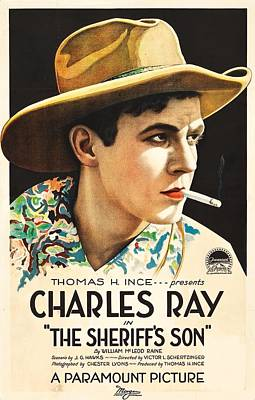 Charles Ray In The Sheriff's Son 1919 Poster by Mountain Dreams