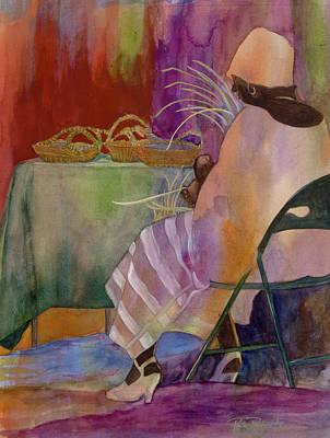 Charleston Basket Weaver Poster by Paula Robertson
