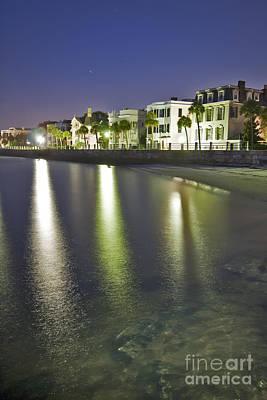 Charleston Battery Row At Dawn Poster