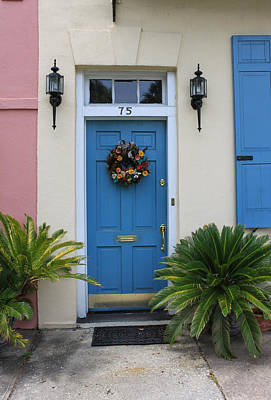 Charleston Blue Door Poster by Suzanne Gaff
