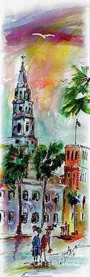Charleston Churches Saint Michael Poster