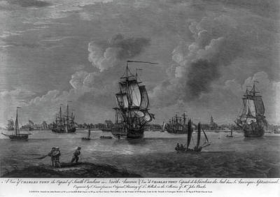 Charleston Harbor Early 1700s Poster by Dale Powell