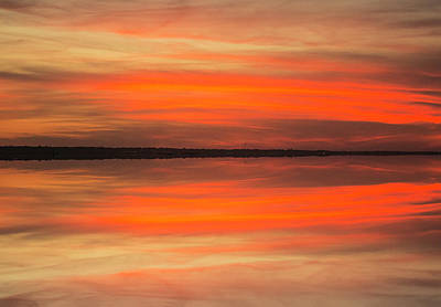Poster featuring the photograph Charleston Harbor Sunset 05 by Jim Dollar
