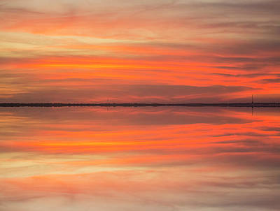 Poster featuring the photograph Charleston Harbor Sunset 2017 11 by Jim Dollar