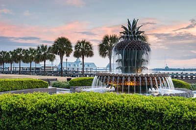 Charleston South Carolina Downtown Waterfront Park Pineapple Fountain Poster