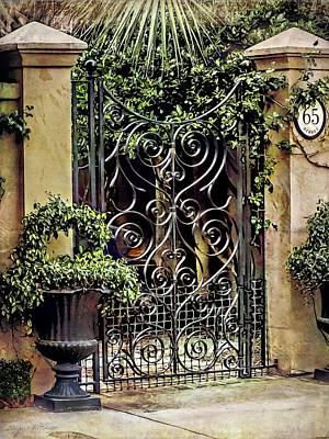 Charleston South Carolina Wrought Iron Gates Poster